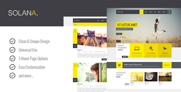 Solana – Multipurpose PSD Template