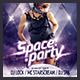 Space Party Flyer - GraphicRiver Item for Sale