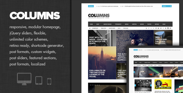 Columns – Impressive Magazine and Blog theme