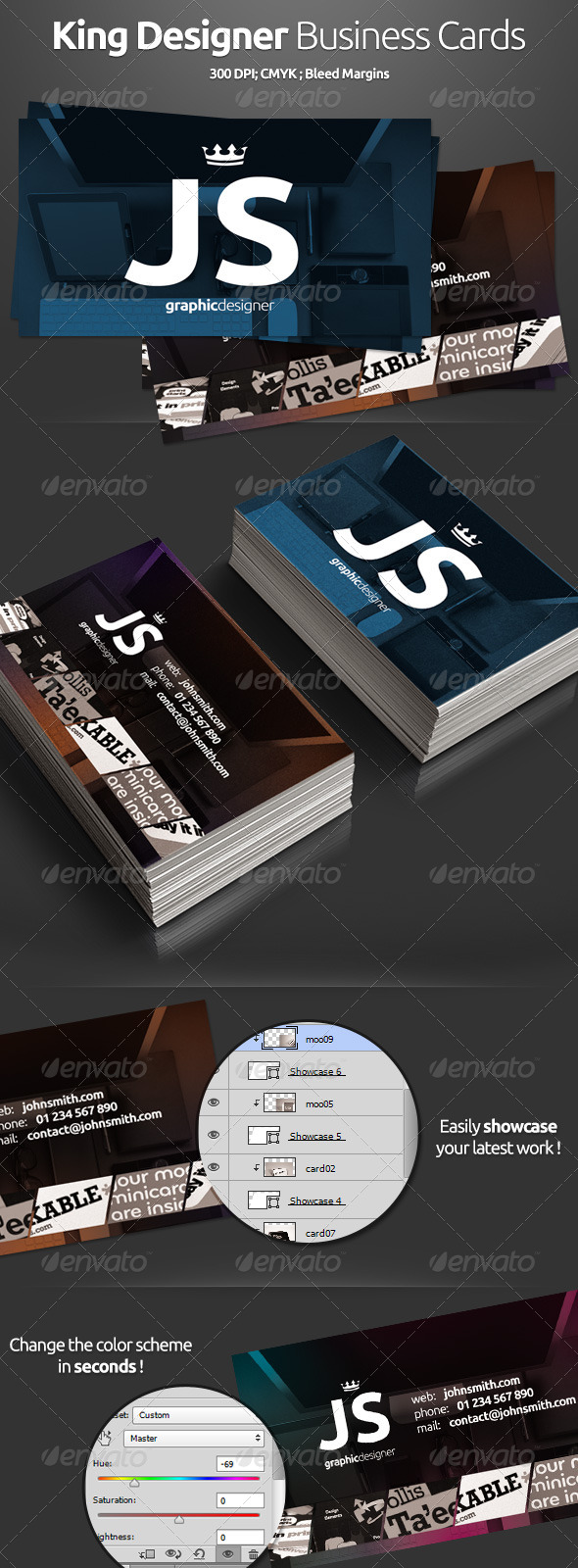 King Designer Business Cards - Creative Business Cards