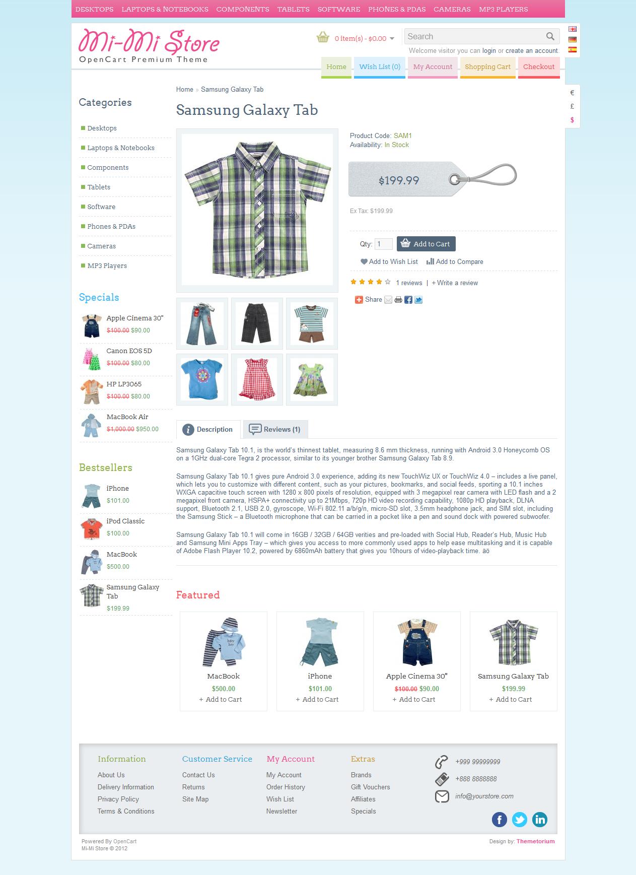 Mi-Mi Store - OpenCart Premium Theme