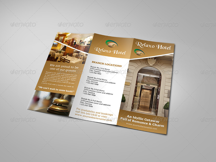 Hotel And Motel Tri-Fold Brochure Template By Owpictures