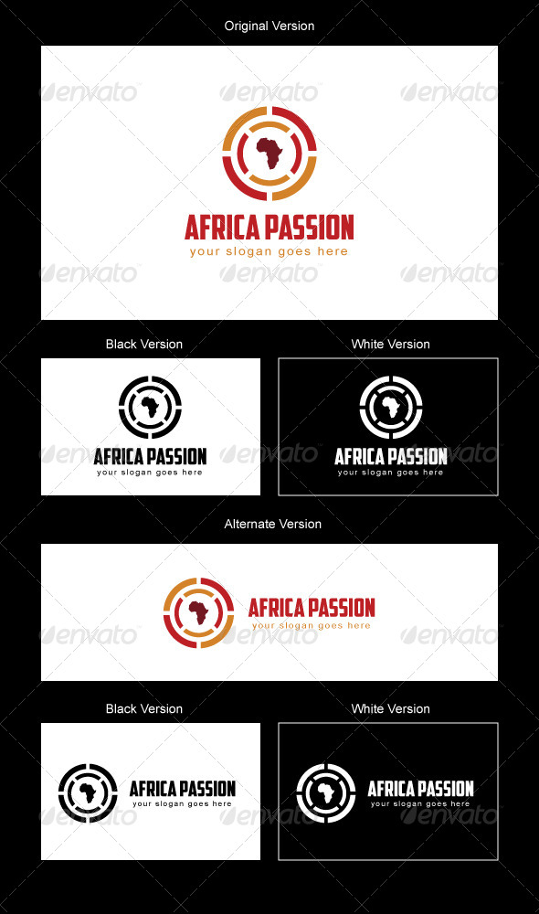 Africa Passion Logo Design - Vector Abstract