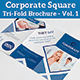 Corporate Square Tri-Fold Brochure - Vol. 1 - GraphicRiver Item for Sale