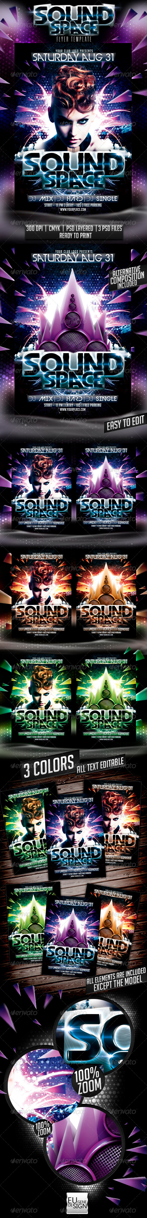 Sound Space Flyer Template - Clubs & Parties Events