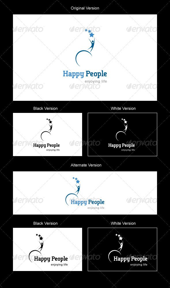 Happy People Logo - Humans Logo Templates