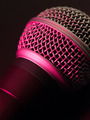 Vocal microphone in pink light - PhotoDune Item for Sale