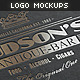 Logo Mock-Ups / Letterpress Edition - GraphicRiver Item for Sale