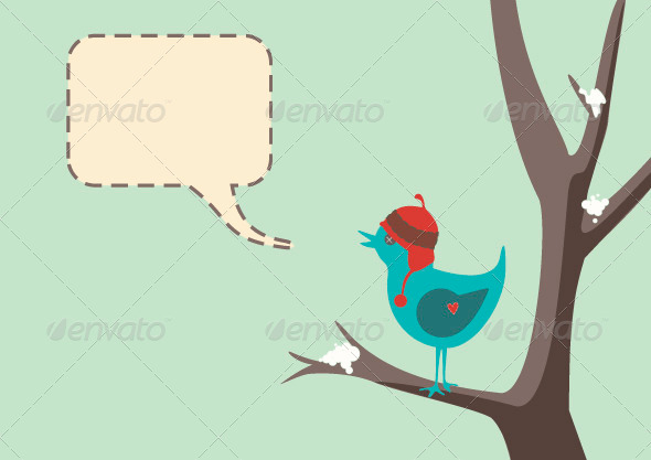 Winter Bird - Animals Characters