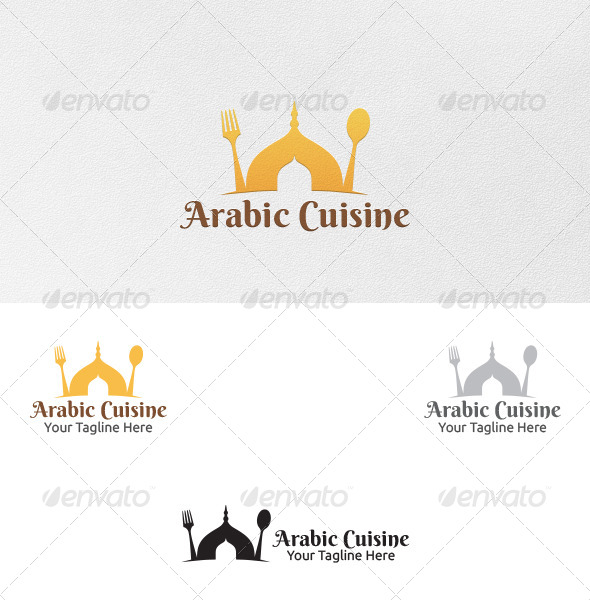 Arabic cuisine logo template by martinjamez graphicriver for Arabic cuisine menu