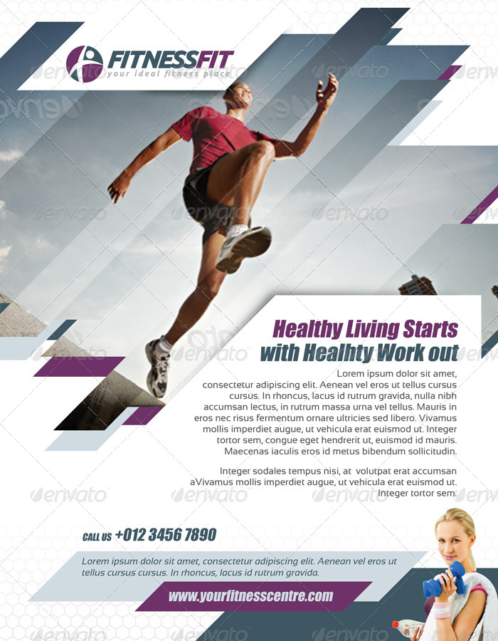 Fitness Flyer Vol By Kitcreativestudio  Graphicriver