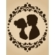 Silhouettes of Kissing Couple - GraphicRiver Item for Sale