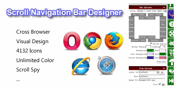 Scroll Navigation Bar Designer - CodeCanyon Item for Sale