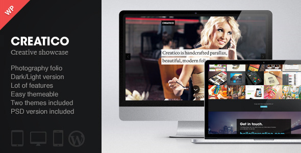 Creatico – Responsive One Page WordPress Theme