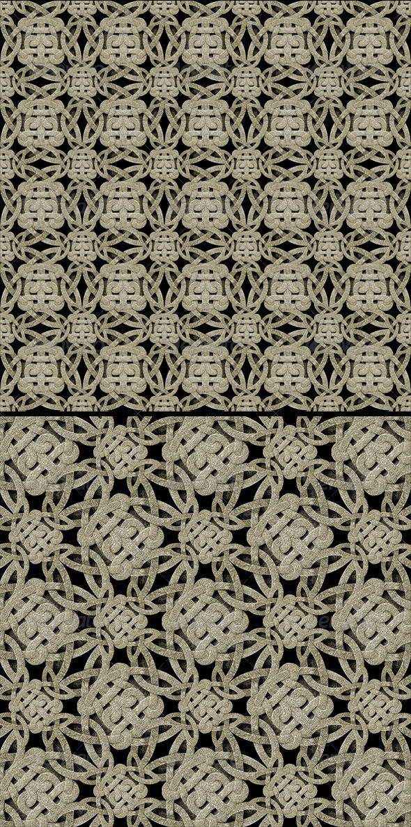 2 Seamless Ornament Stone Patterns - 3DOcean Item for Sale