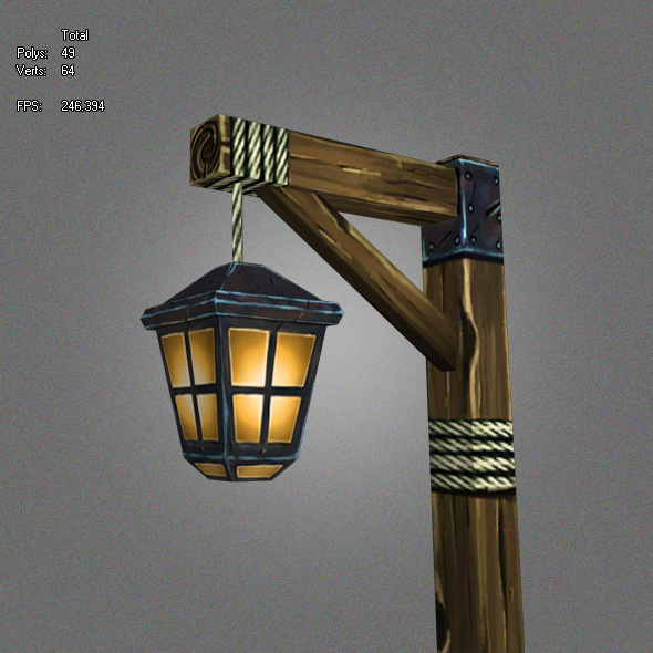 Low Poly Lantern_1 - 3DOcean Item for Sale