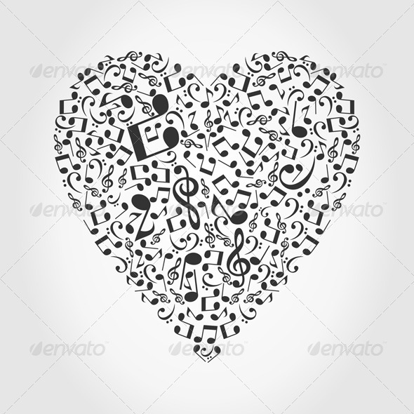 Musical heart2 - Valentines Seasons/Holidays