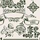 One Color Flowers Vintage Clip-Art - GraphicRiver Item for Sale