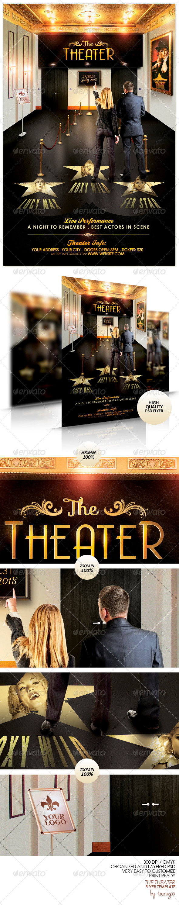 The Theater Flyer Template - Flyers Print Templates