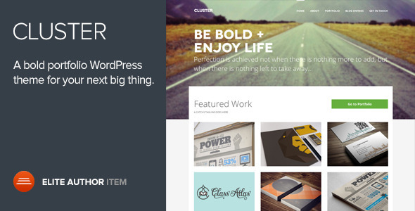 Cluster – A Bold Portfolio WordPress Theme