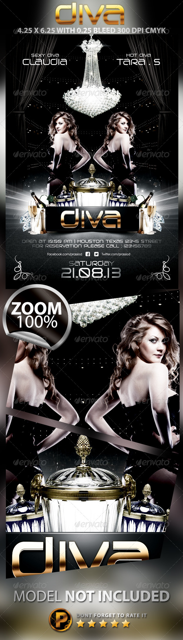 Diva Flyer Template - Concerts Events
