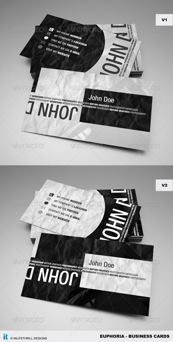 Euphoria - Business cards - Creative Business Cards