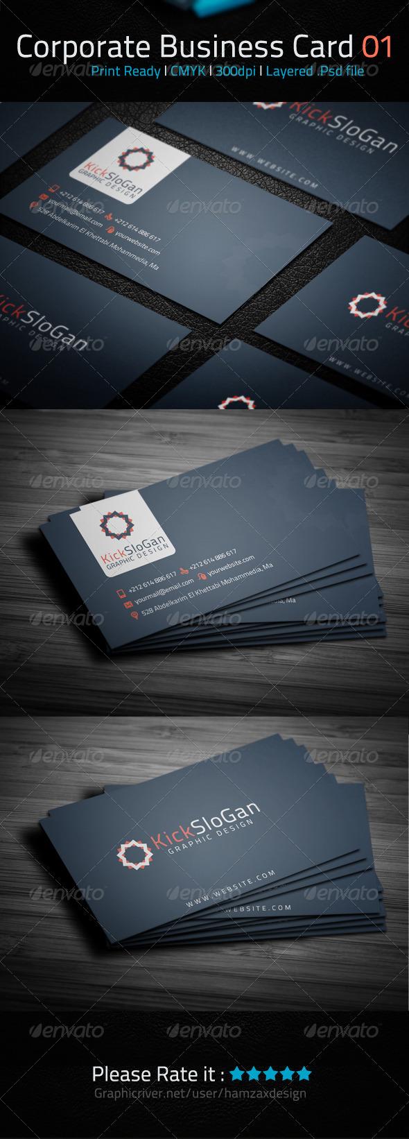 Corporate Business Card 01 - Corporate Business Cards