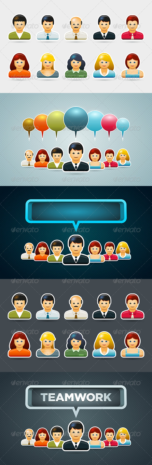 Business People Icon Set - People Characters