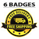 Yellow Free Shipping Badges - GraphicRiver Item for Sale