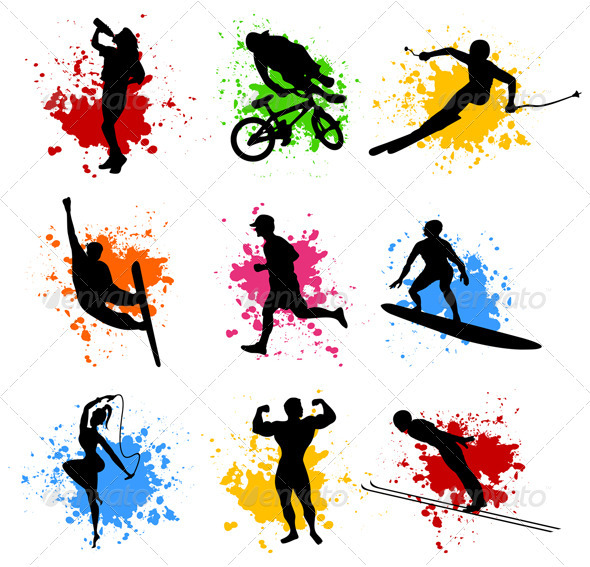 Sports silhouettes - People Characters