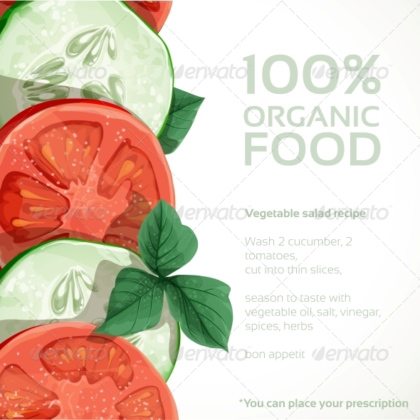 Banner with Fresh Vegetables Tomatoes - Food Objects
