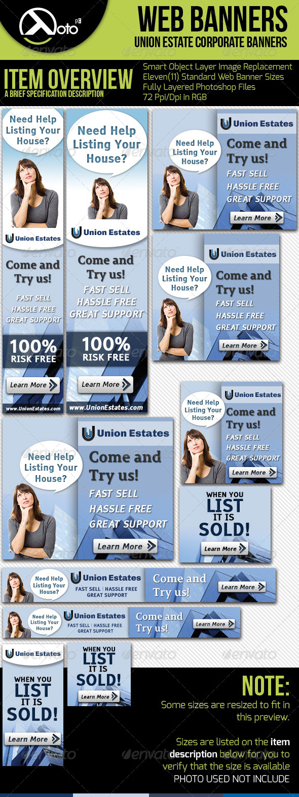 Real Estate Corporate Web Banners - Banners & Ads Web Elements