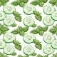 Seamless Background from Slices of Cucumber - GraphicRiver Item for Sale