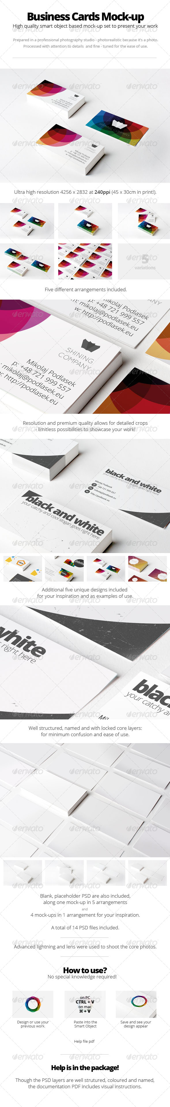 Branding / Business Cards Mock-Up - Business Cards Print