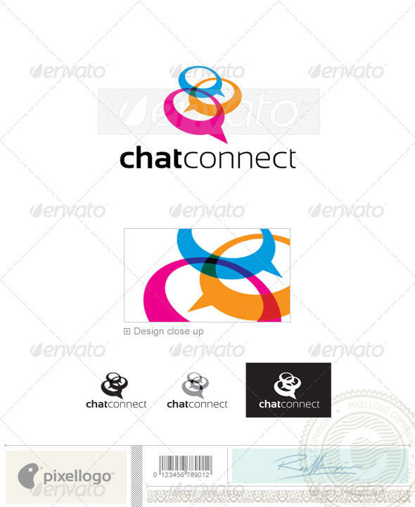 Chat logo Logo-2380 - Vector Abstract