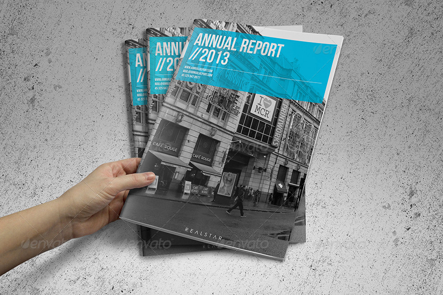 Annual Report Template By Realstar  Graphicriver