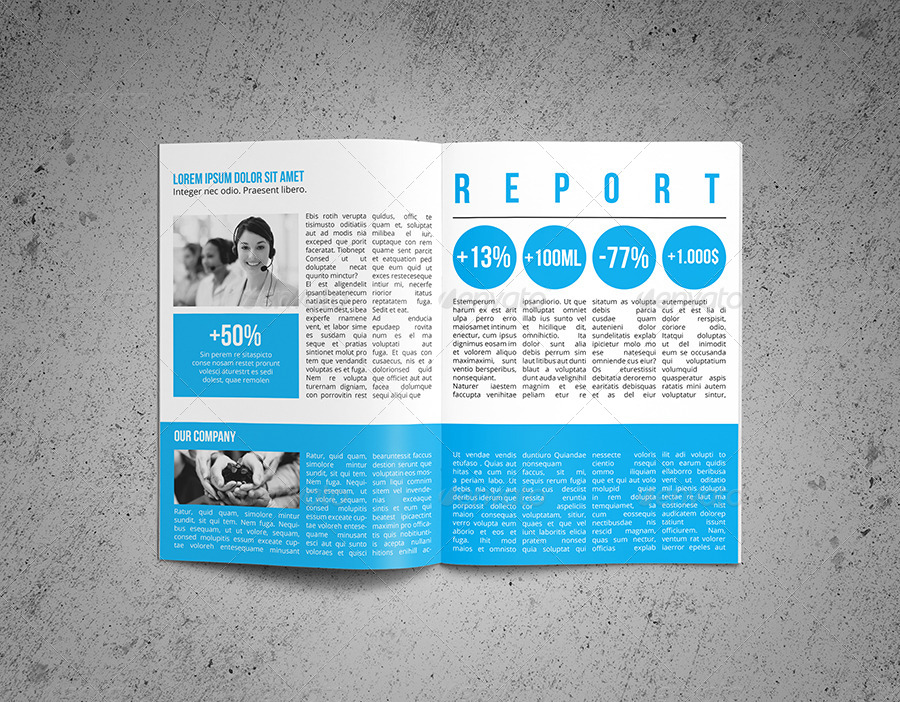 Annual Report Template By Realstar | Graphicriver