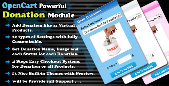 opencart powerful donation module - CodeCanyon Item for Sale