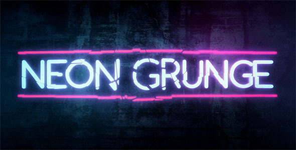 neon grunge by tgarretteaton videohive. Black Bedroom Furniture Sets. Home Design Ideas