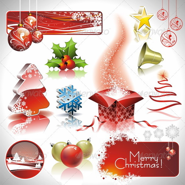 Vector design set on a christmas theme - Christmas Seasons/Holidays