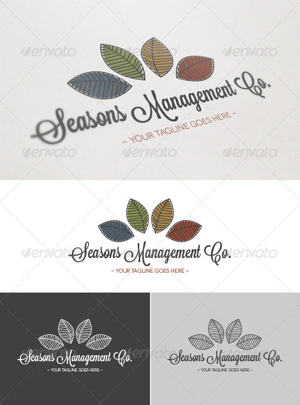 Seasons Management Co. Logo - Nature Logo Templates
