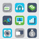Set of Flat Analytics and Statistics Icons  - GraphicRiver Item for Sale