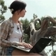 The Girl With Laptop On The Nature 2 - VideoHive Item for Sale