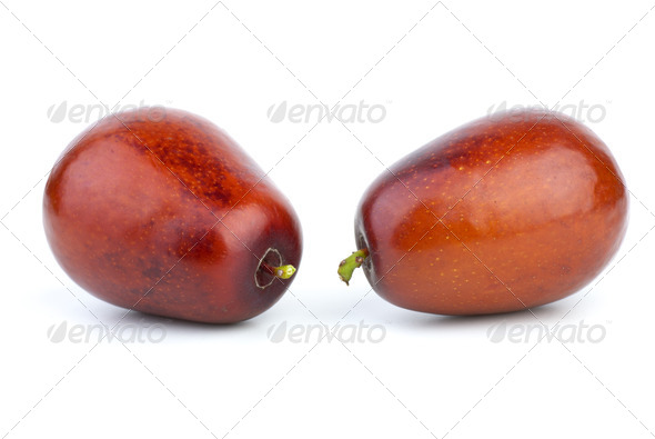 Two jujube berries - Stock Photo - Images
