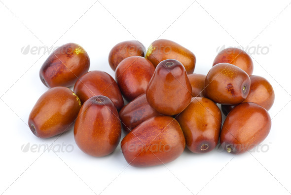 Small pile of jujube berries - Stock Photo - Images