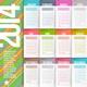 Calendar of 2014 - GraphicRiver Item for Sale