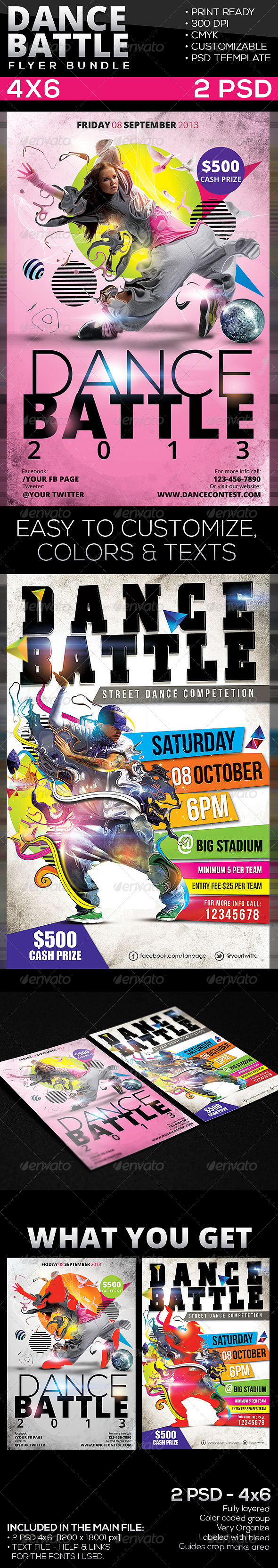 Dance Battle Flyer Bundle - Events Flyers