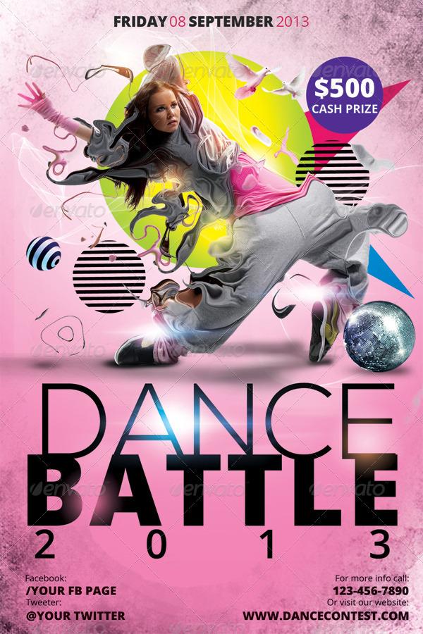 dance battle flyer bundle by hermz
