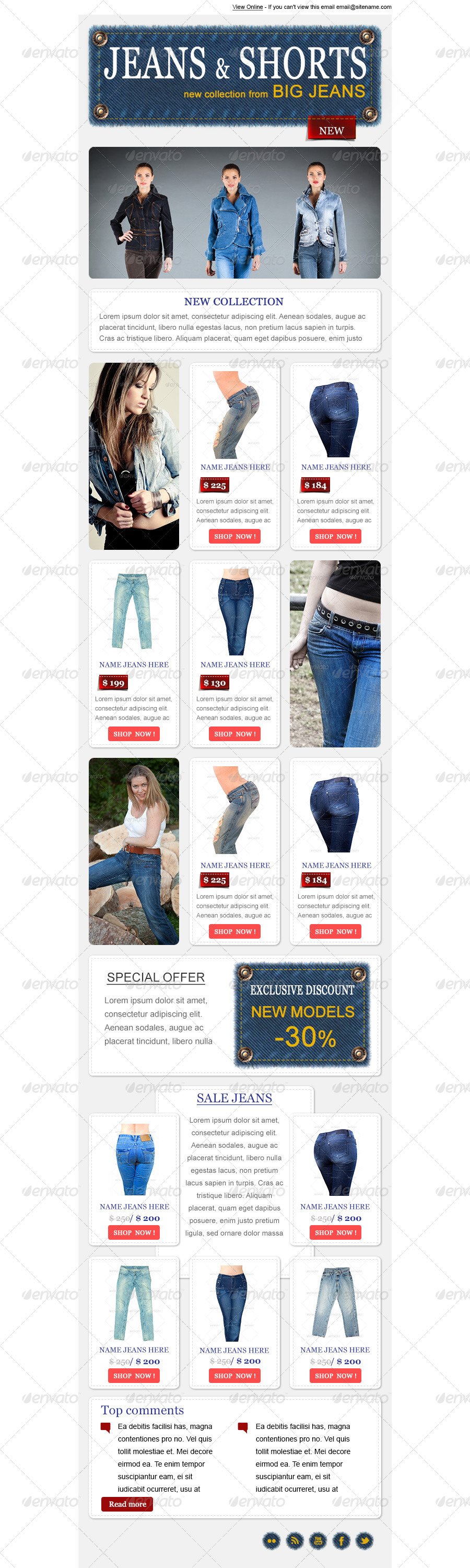 Jeans Shop - PSD Email Template