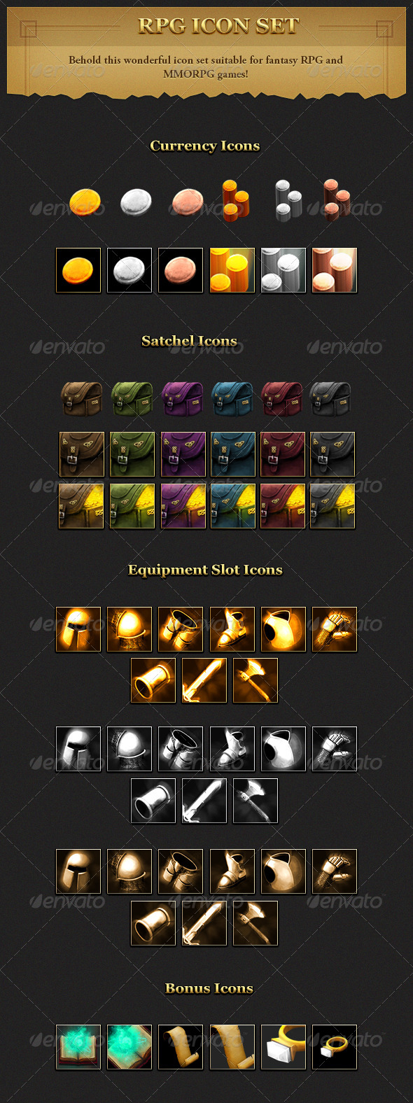 RPG User interface Icon Set - Miscellaneous Icons